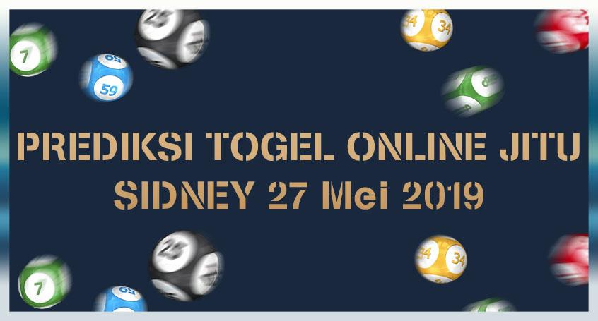 Prediksi Togel Online Jitu Sidney 27 Mei 2019