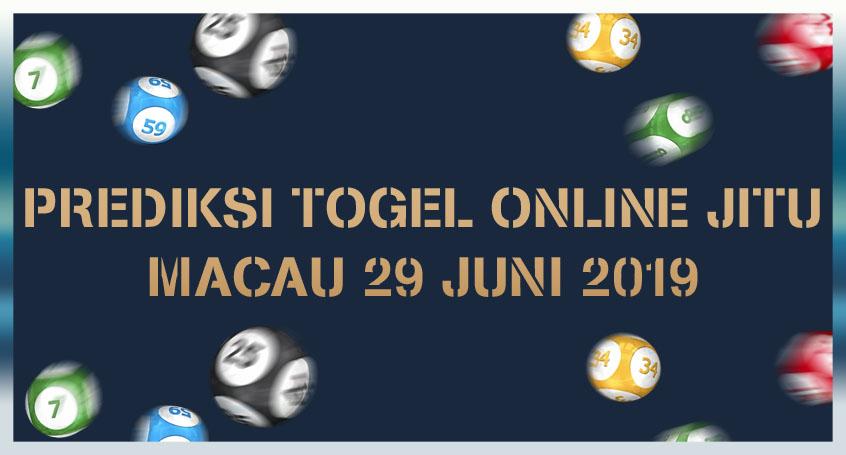 Prediksi Togel Online Jitu Macau 29 Juni 2019