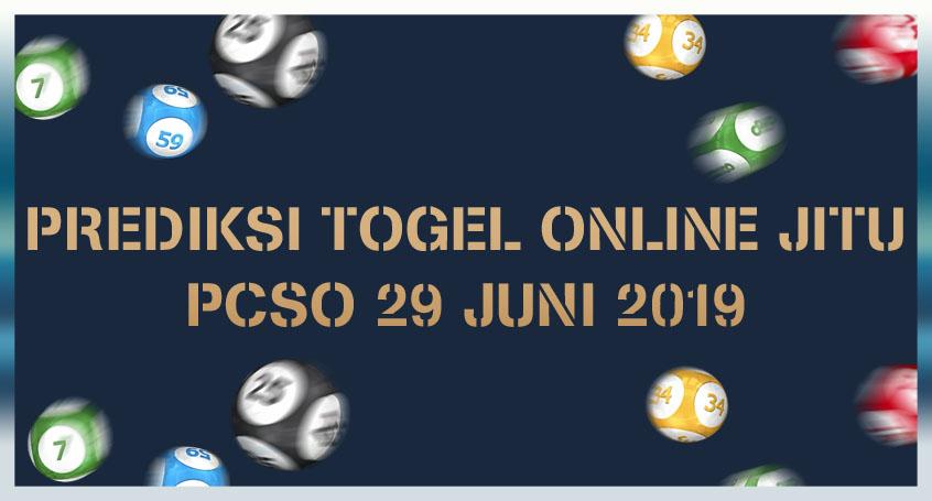 Prediksi Togel Online Jitu PCSO 29 Juni 2019