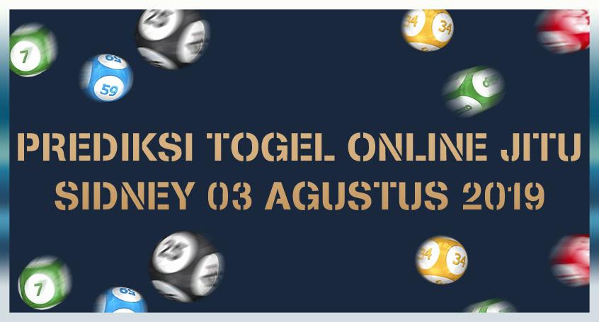 Prediksi Togel Online Jitu Sidney 03 Agustus 2019