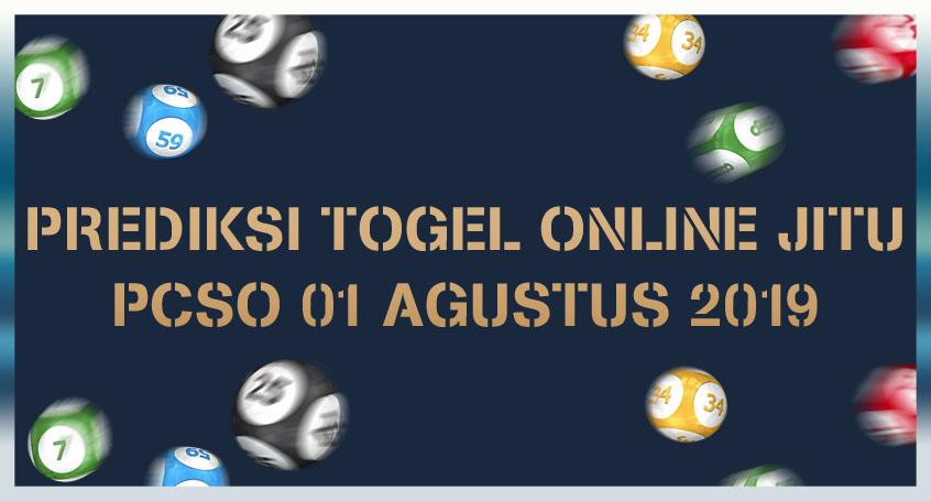 Prediksi Togel Online Jitu PCSO 01 Agustus 2019