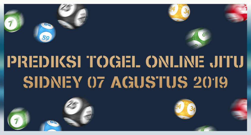 Prediksi Togel Online Jitu Sidney 07 Agustus 2019