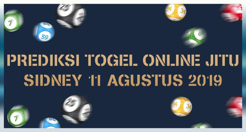 Prediksi Togel Online Jitu Sidney 11 Agustus 2019