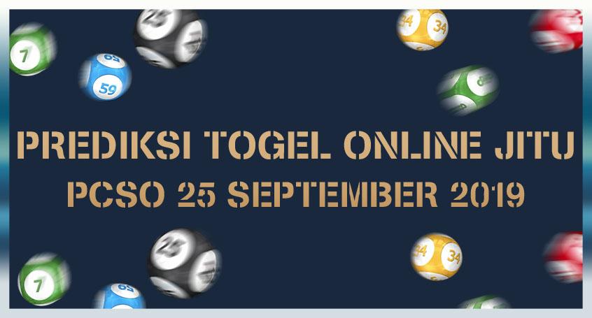 Prediksi Togel Online Jitu PCSO 25 September 2019