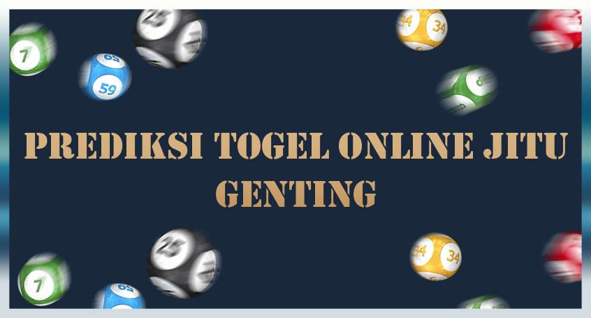 Prediksi Togel Online Jitu Genting 24 Oktober 2020