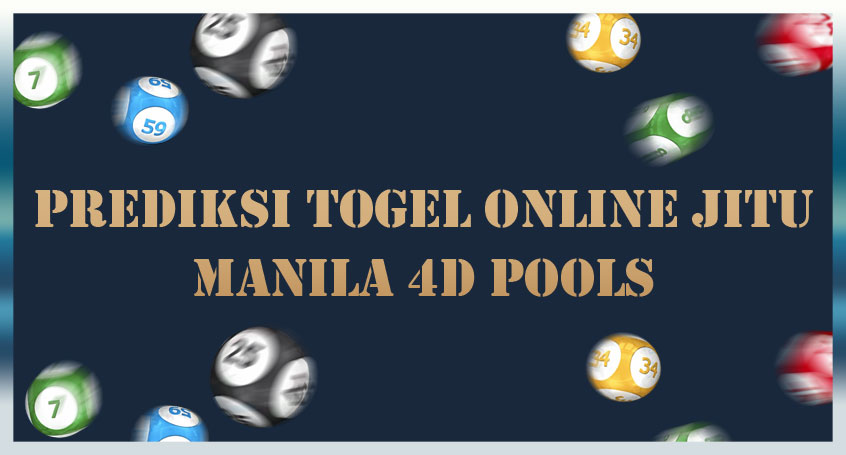 Prediksi Togel Online Jitu Manila 4D Pools 21 Oktober 2020