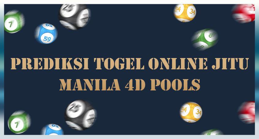 Prediksi Togel Online Jitu Manila 4D Pools 03 Oktober 2020